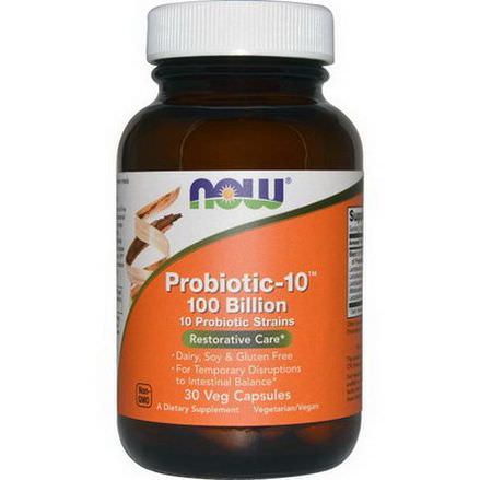 Now Foods, Probiotic-10, 100 Billion, 30 Veg Caps