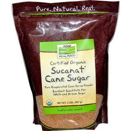 Now Foods, Real Food, Certified Organic Sucanat Cane Sugar 907g