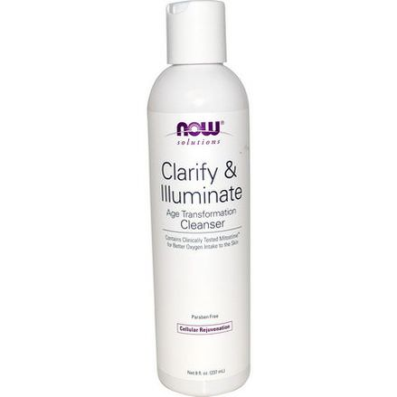Now Foods, Solutions, Clarify&Illuminate Cleanser 237ml