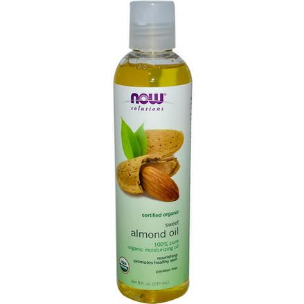 Now Foods, Solutions, Organic Sweet Almond Oil 237ml