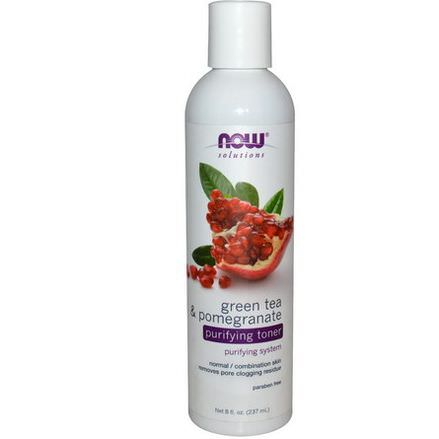 Now Foods, Solutions, Purifying Toner, Green Tea&Pomegranate 237ml