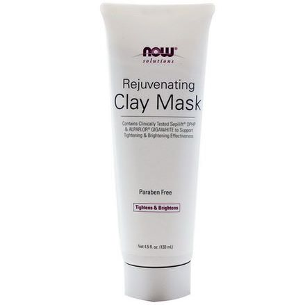 Now Foods, Solutions, Rejuvenating Clay Mask 133ml