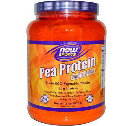 Now Foods, Sports, Pea Protein, Powder, Vanilla Toffee 907g