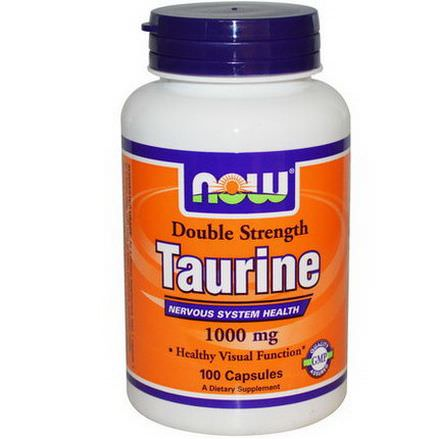Now Foods, Taurine, Double Strength, 1,000mg, 100 Capsules