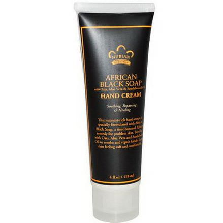 Nubian Heritage, Hand Cream, African Black Soap 118ml