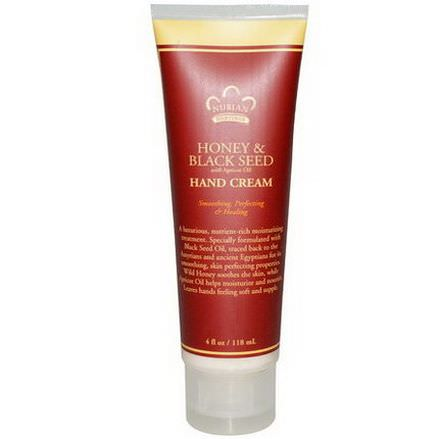 Nubian Heritage, Hand Cream, Honey&Black Seed with Apricot Oil 118ml