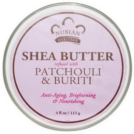Nubian Heritage, Shea Butter Infused with Patchouli&Buriti 113g