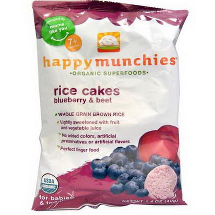 Nurture Inc. Happy Baby, Happy Munchies, Rice Cakes, Blueberry&Beet 40g
