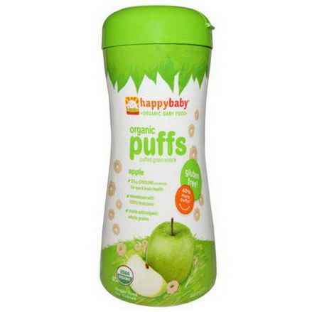 Nurture Inc. Happy Baby, Organic Baby Food, Organic Puffs, Apple 60g