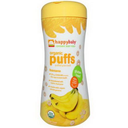 Nurture Inc. Happy Baby, Organic Baby Food, Organic Puffs, Banana 60g