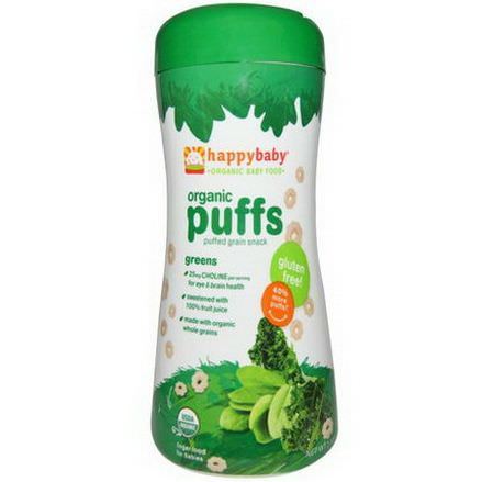 Nurture Inc. Happy Baby, Organic Baby Food, Organic Puffs, Greens 60g