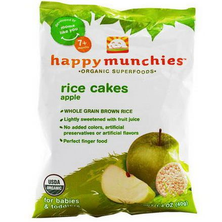 Nurture Inc. Happy Baby, happy munchies, Rice Cakes, Apple 40g