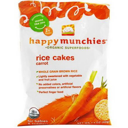 Nurture Inc. Happy Baby, happymunchies, Rice Cakes, Carrot 40g