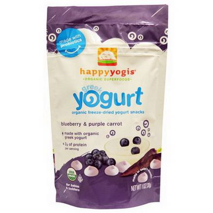 Nurture Inc. Happy Baby, happyyogis, Greek Yogurt, Blueberry&Purple Carrot 28g