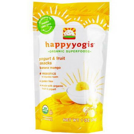 Nurture Inc. Happy Baby, happyyogis, Yogurt&Fruit Snacks, Banana Mango 28g