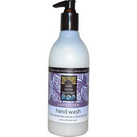 One with Nature, Dead Sea Mineral Hand Wash, Lavender 350ml