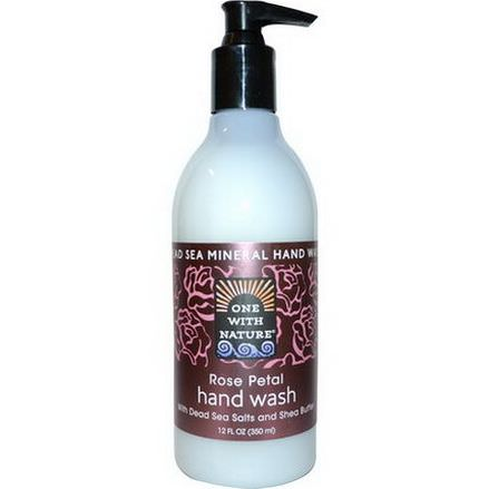One with Nature, Dead Sea Mineral Hand Wash, Rose Petal 350ml