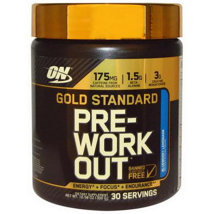 Optimum Nutrition, Gold Standard, Pre-Workout, Blueberry Lemonade 300g