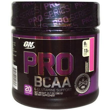 Optimum Nutrition, Pro BCAA&Glutamine Support, Raspberry Lemonade 390g