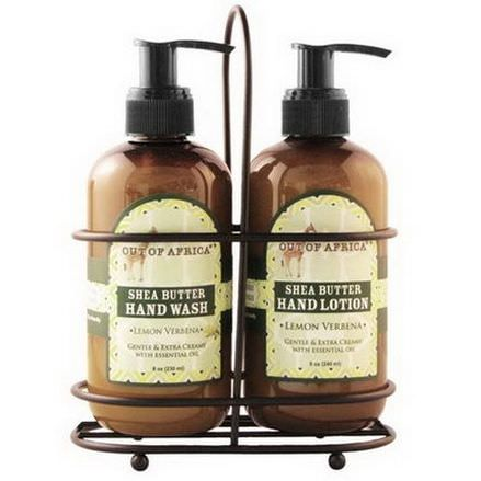 Out of Africa, Hand Wash&Lotion Set, Lemon Verbena, 2 Piece Set 230ml Each