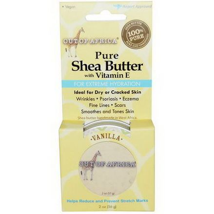 Out of Africa, Pure, Shea Butter with Vitamin E, Vanilla 56g