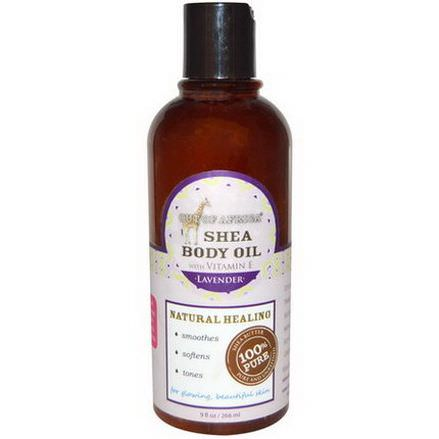 Out of Africa, Shea Body Oil, with Vitamin E, Lavender 266ml