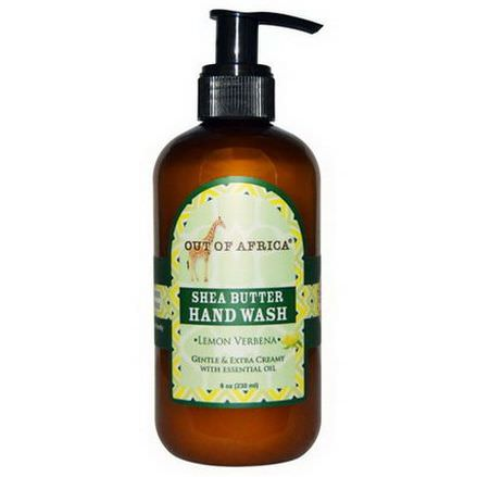 Out of Africa, Shea Butter Hand Wash, Lemon Verbena 230ml