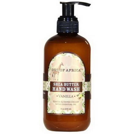 Out of Africa, Shea Butter Hand Wash, Vanilla 230ml