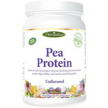 Paradise Herbs, Pea Protein, Unflavored 454g