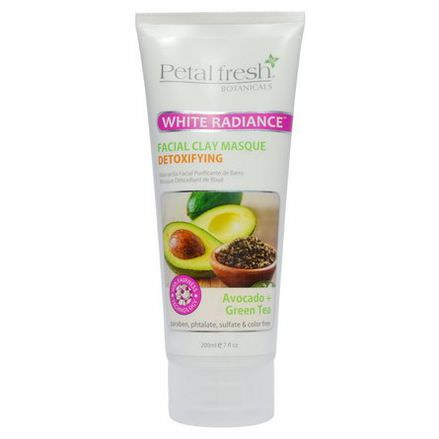 Petal Fresh, White Radiance Facial Clay Masque, Avocado Green Tea 200ml