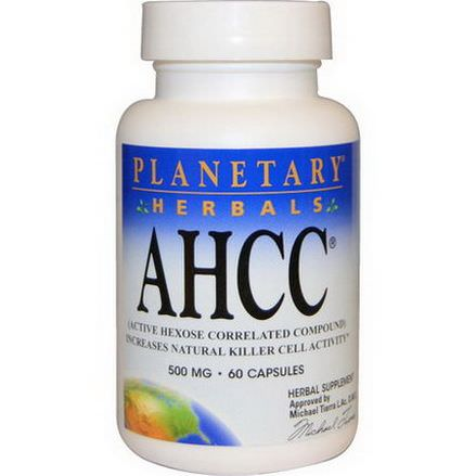 Planetary Herbals Active Hexose Correlated Compound, 500mg, 60 Capsules