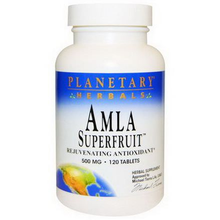 Planetary Herbals, Amla Superfruit Rejuvenating Antioxidant, 500mg, 120 Tablets