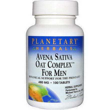 Planetary Herbals, Avena Sativa Oat Complex for Men, 480mg, 100 Tablets