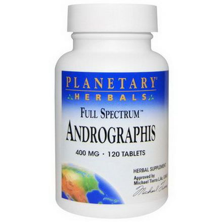 Planetary Herbals, Full Spectrum, Andrographis, 400mg, 120 Tablets