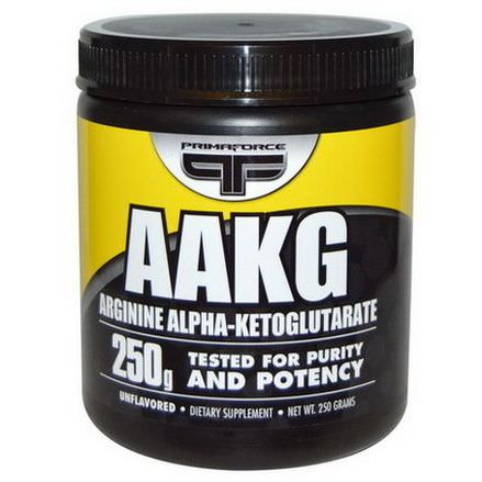 Primaforce, AAKG, Arginine Alpha-Ketoglutarate, Unflavored, 250g