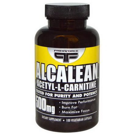 Primaforce, Alcalean, Acetyl-L-Carnitine, 500mg, 100 Veggie Caps