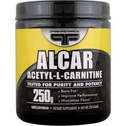 Primaforce, Alcar, Acetyl-L-Carnitine, Unflavored, Powder, 250g