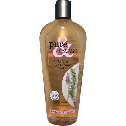 Pure&Basic, Natural Bath&Body Wash, Lavender Rosemary 350ml