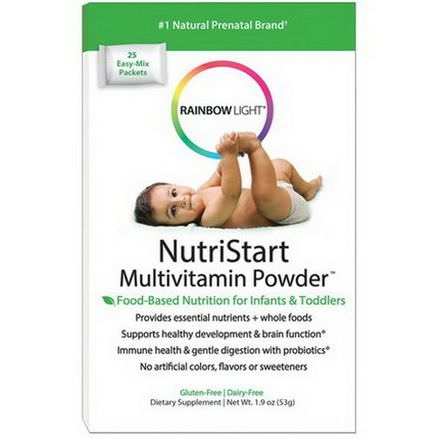 Rainbow Light, NutriStart, Multivitamin Powder, 25 Easy-Mix Packets 53g