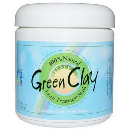 Rainbow Research, Green Clay, Facial Treatment Mask 225g