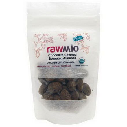 Rawmio, Chocolate Covered Sprouted Almonds 57g