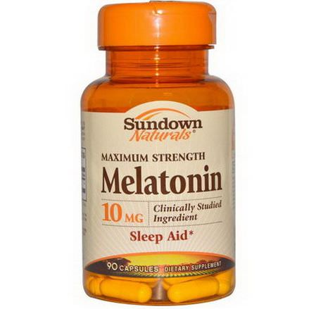 Rexall Sundown Naturals, Maximum Strength Melatonin, 10mg, 90 Capsules