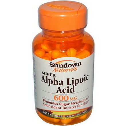 Rexall Sundown Naturals, Super Alpha Lipoic Acid, 600mg, 60 Capsules