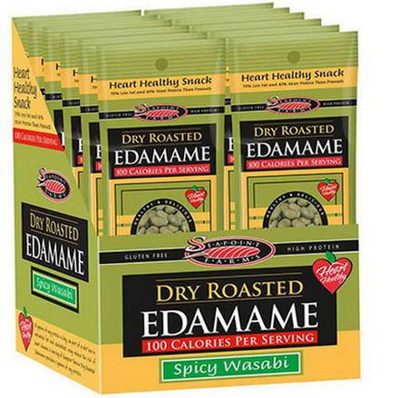 Seapoint Farms, Dry Roasted Edamame, Spicy Wasabi, 12 Packages 45g Each