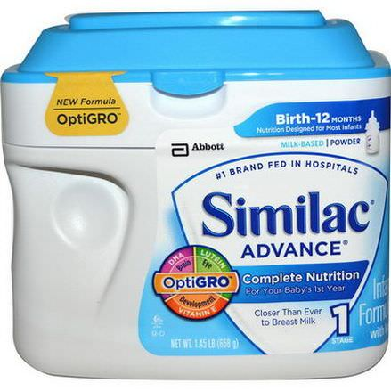 Similac, Advance, Infant Formula with Iron, Stage 1 658g