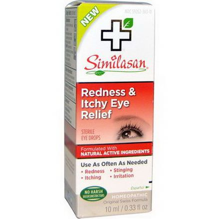 Similasan, Redness&Itchy Eye Relief 10ml