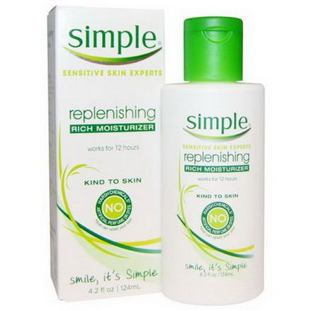 Simple Skincare, Replenishing Rich Moisturizer 124ml