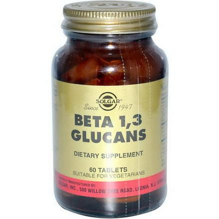 Solgar, Beta 1,3 Glucans, 60 Tablets