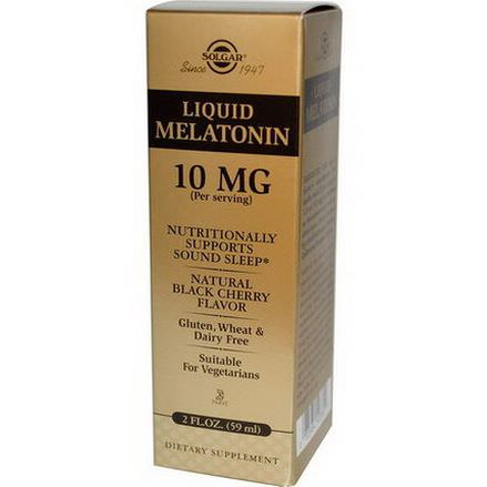 Solgar, Liquid Melatonin, Natural Black Cherry Flavor, 10mg 59ml