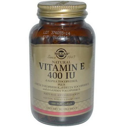 Solgar, Vitamin E, 400 IU, 100 Softgels